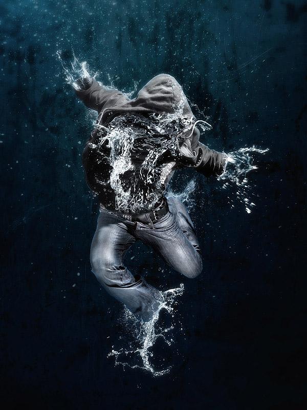 خلق تصاویر بسیار جالب ودیدنی با آب