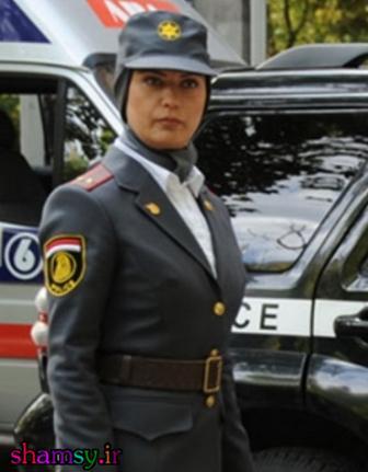 لعیا زنگنه با تیپ و لباس افسر فرانسوی