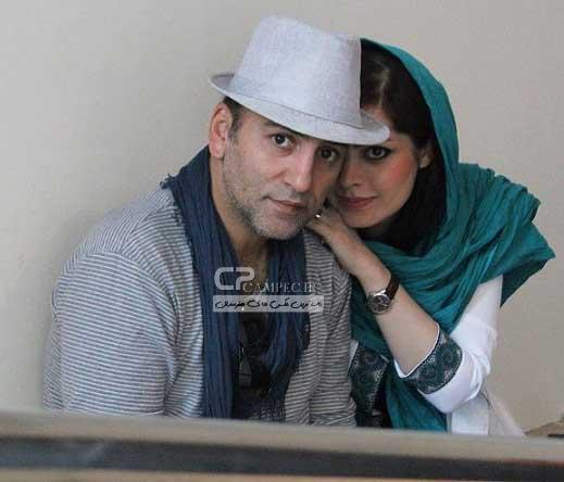 حمید رضا آذرننگ در کنار همسرش