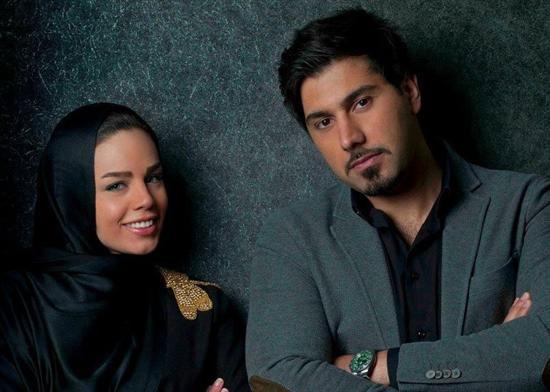 احسان خواجه امیری در کنار همسرش