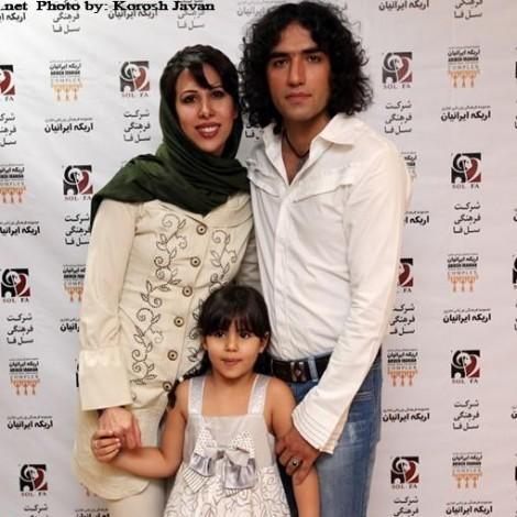 رضا یزدانی در کنار همسرش
