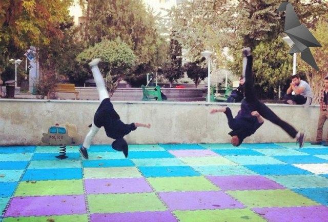 عکس های دیدنی از دختران تهرانی در حال انجام  ورزش پارکور