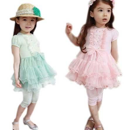 جدیدترین  و شیک ترین ست لباس تابستانه دختر بچه ها 93