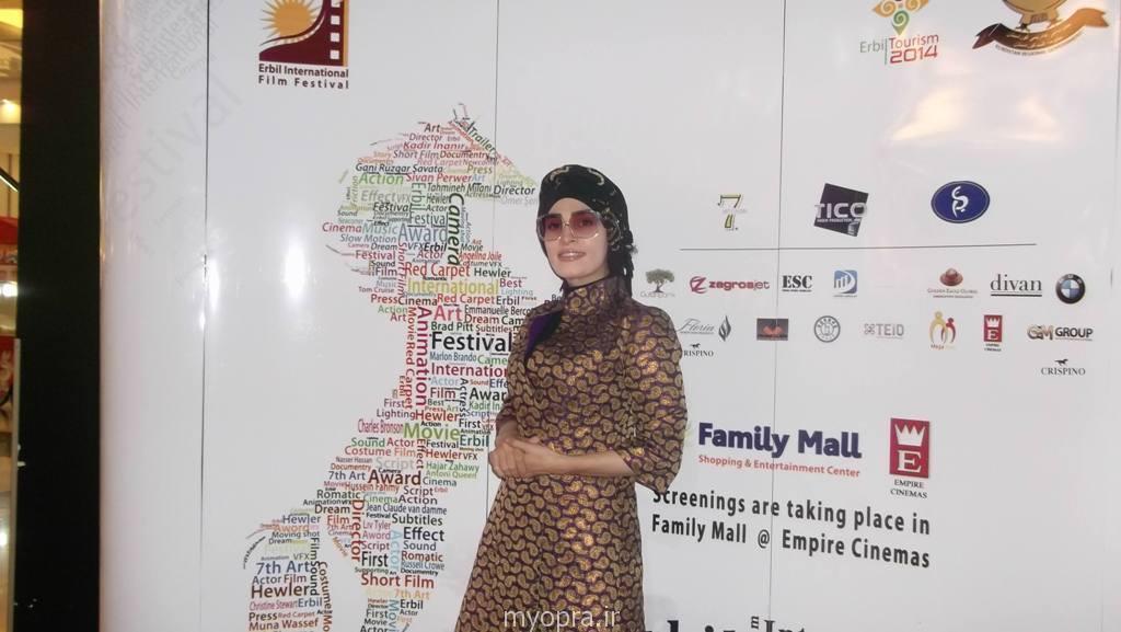 تیپ ولباس اندیشه فولادوند در جشنواره اربیل عراق