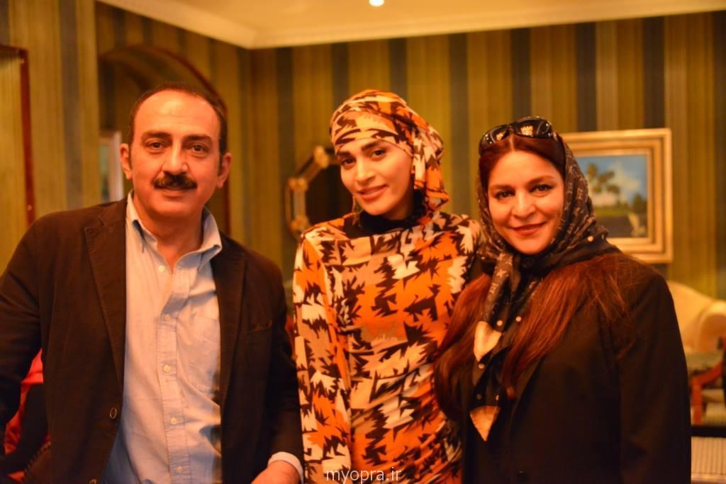 تیپ و لباس اندیشه فولادوند در جشنواره اربیل عراق