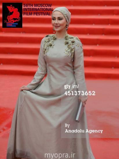 جذاب ترین عکس های آناهیتا نعمتی در فستیوال فیلم مسکو