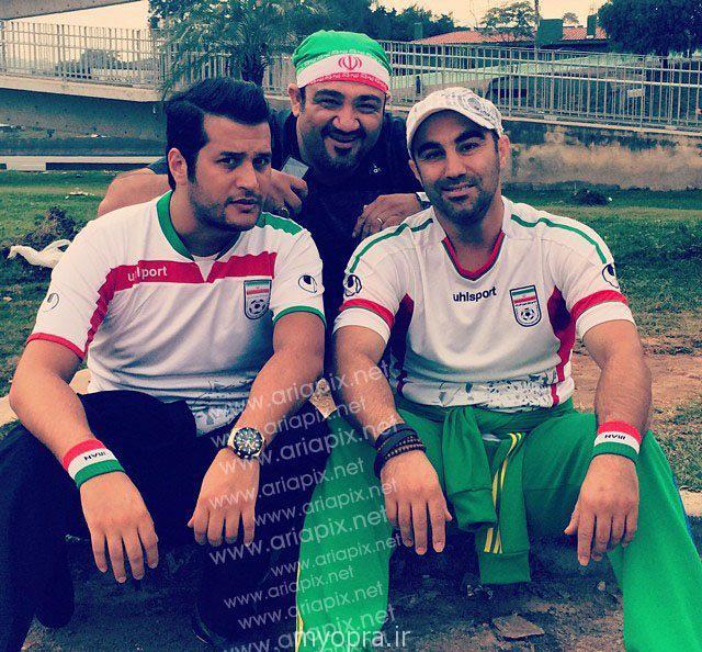عکس های بازیگران ایرانی دربرزیل  در حال تشویق تیم ایران (3)