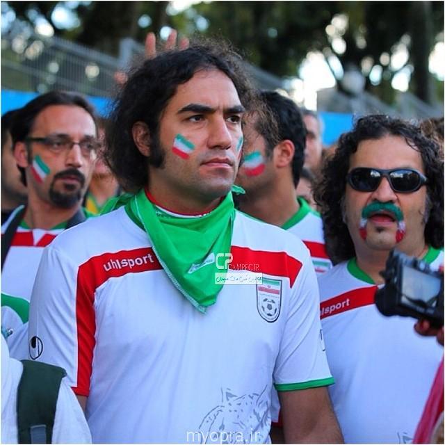 عکس های بازیگران ایرانی دربرزیل  در حال تشویق تیم ایران