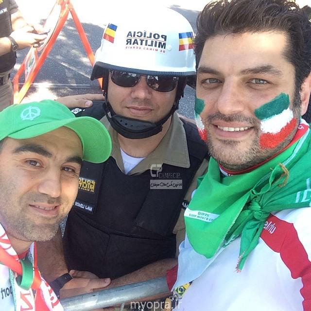عکس های بازیگران ایرانی در تشویق تیم ایران بازی ایران آرژانتین