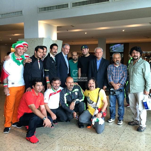 عکس های بازیگران ایرانی در تشویق تیم ایران بازی ایران آرژانتین  (5)