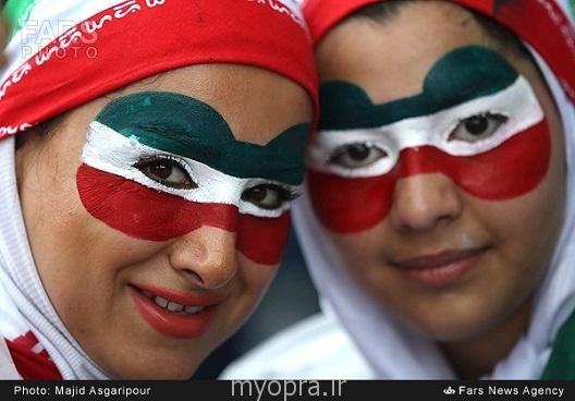 عکس های تماشاگران زن و مرد ایرانی در بازی های برزیل 2014