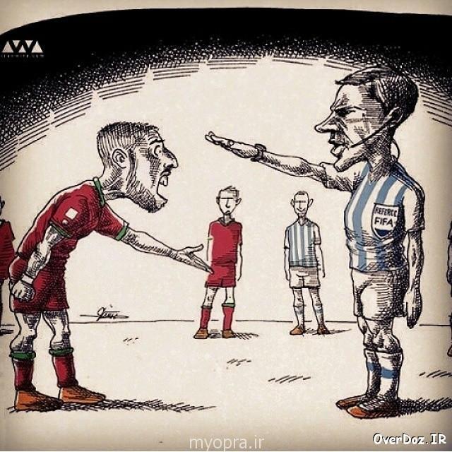 عکس پر معنی دژاگه در فیس بوک و کاریکاتور جالب از داور دیدار