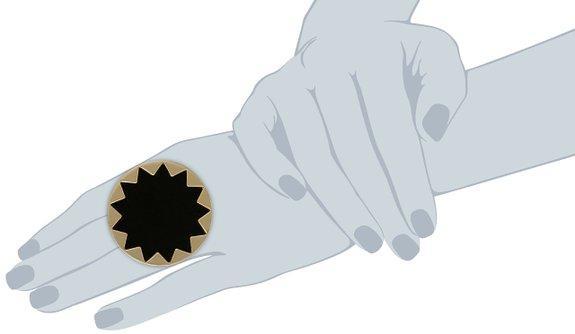انگشتر دخترانه و زنانه نگین مشکی بزرگ