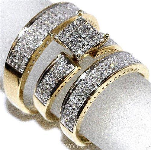 مدل انگشتر چند تک طلا برای عروسی و نامزدی