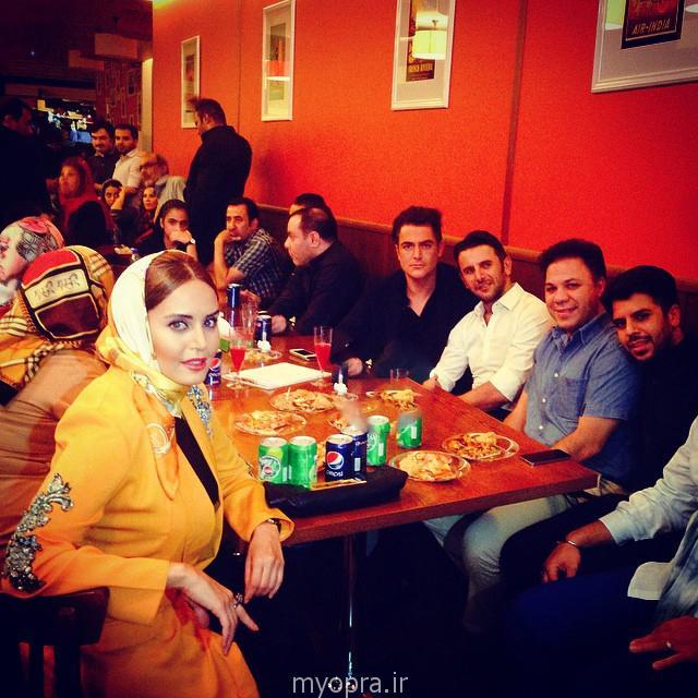 عکس جدید محمدرضا گلزار امین حیایی الناز شاکردوست در میهمانی
