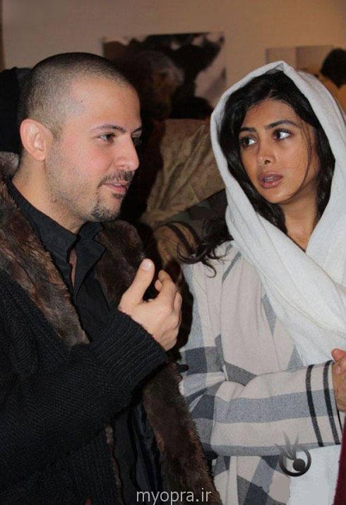 آزاده صمدی و همسرش