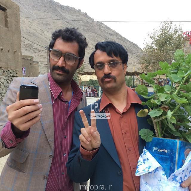 احمد مهران فر و هادی کاظمی در پشت صحنه ایران برگر