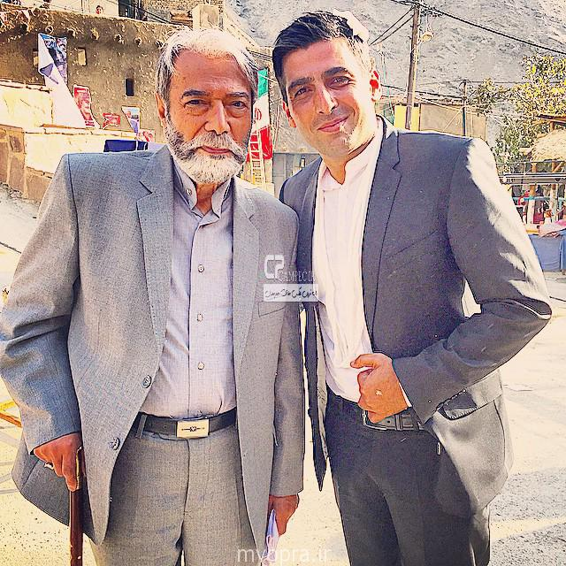 حمید گودرزی و علی نصیریان در پشت صحنه ایران برگر