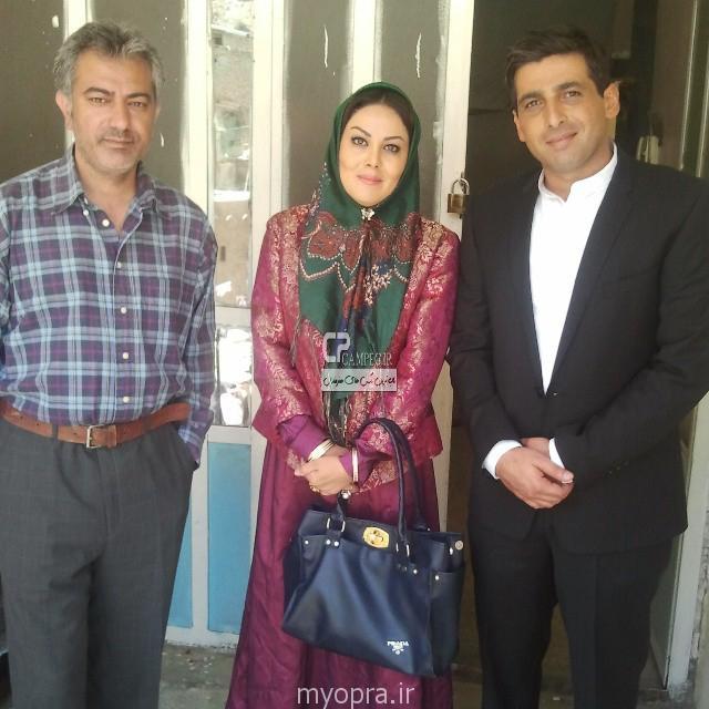 حمید گودرزی و محمدرضا هدایتی در پشت صحنه ایران برگر