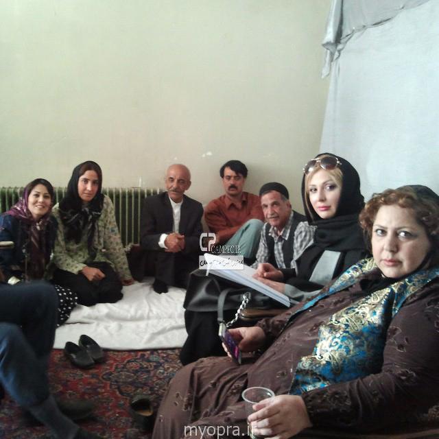 نیوشا ضیغمی شهره لرستانی در پشت صحنه ایران برگر