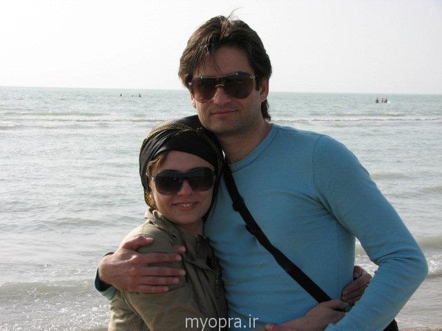 پویا امینی و همسرش
