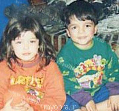 عکس کودکی سحر قریشی و برادرش