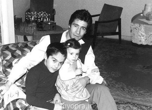 ناصر حجازی در کنار فرزندانش آتیلا و آتوسا