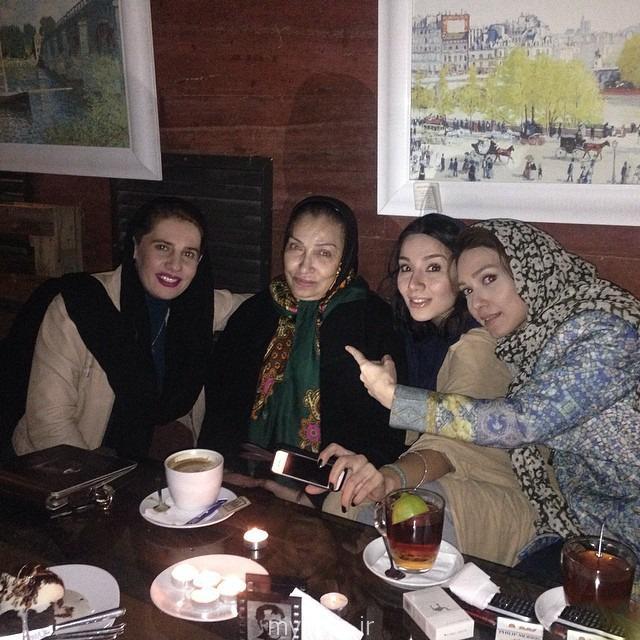 شهرزاد کمال زاده در کنار فریماه فرجامی بازیگر مشهور