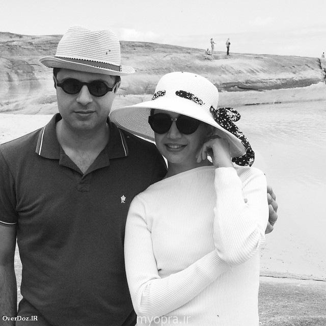 شبنم قلی خانی در کنار همسرش