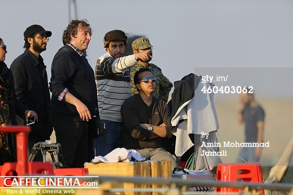 بازیگران  در پشت صحنه و پایان فیلمبرداری عنبر ماهی