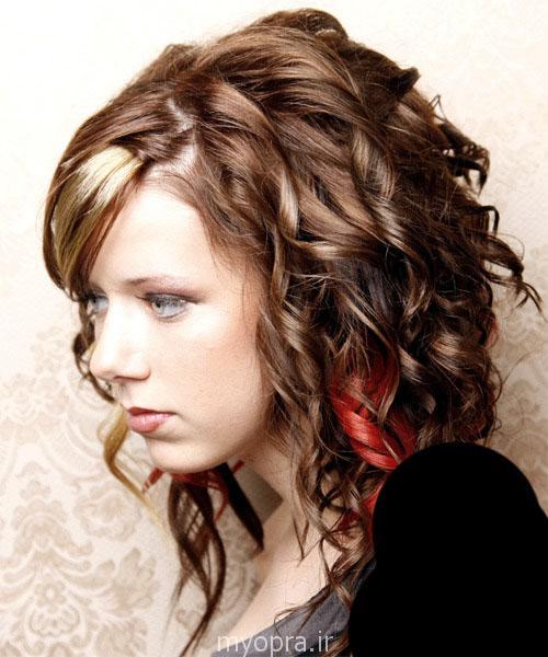 رنگ  مو  و  مش عنابی رنگ مد سال 94