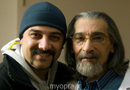 انوشیروان ارجمند در کنار پسرش برزو ارجمند