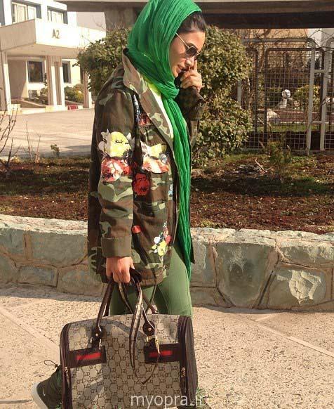 تینا آخوند تبار با تیپ ارتشی بهمن 93