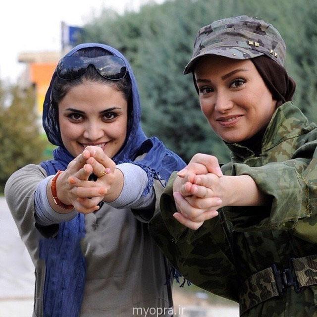 عکس بهمن ماه بهاره افشاری با تیپ ارتشی