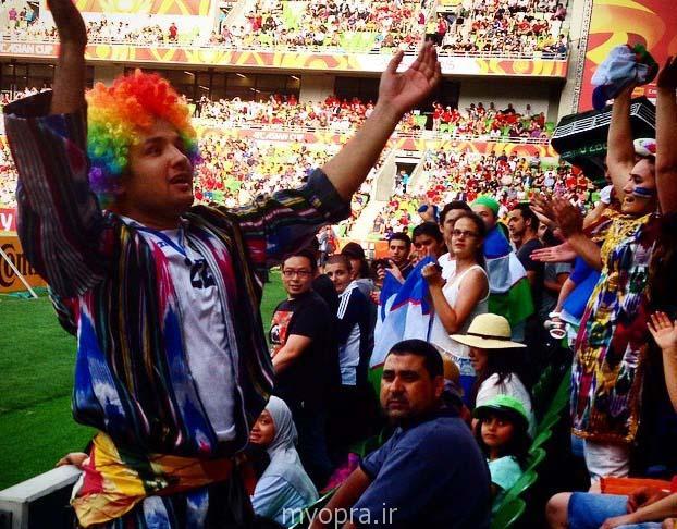 عکس های تماشاچیان کره و ازبکستان جام ملت های آسیا استرالیا 2015