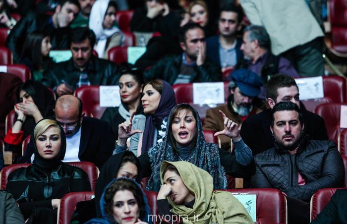 عکس های یادگاری بازیگران جشنواره فجر 93