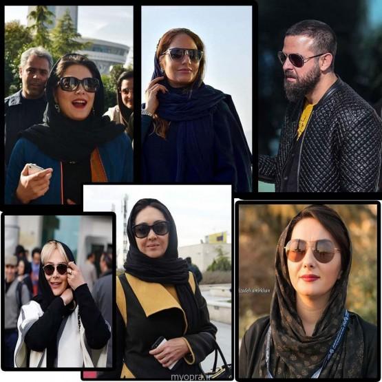 گالری عینک های آفتابی بازیگران در جشنواره فیلم فجر 93