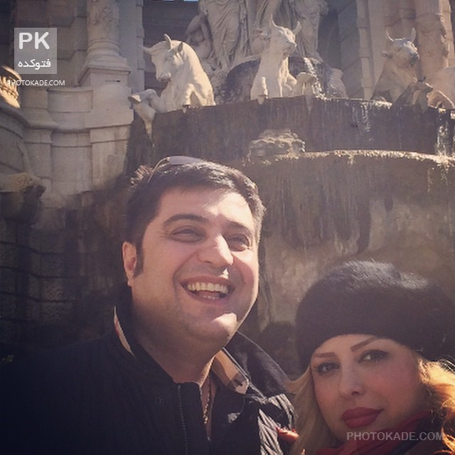 نیوشا ضیغمی و همسرش در خارج بهار 94