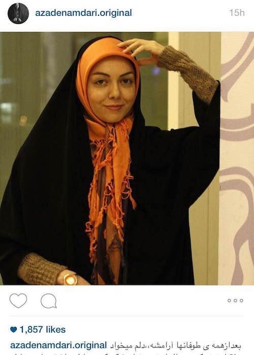 آزاده نامداری در اینستاگرام «ممنوعالتصویر نیستم»...