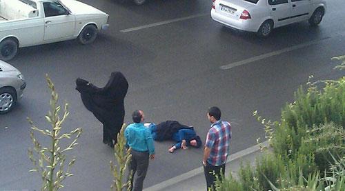 خودکشی زن جوان از بالای پل در مشهد؟!