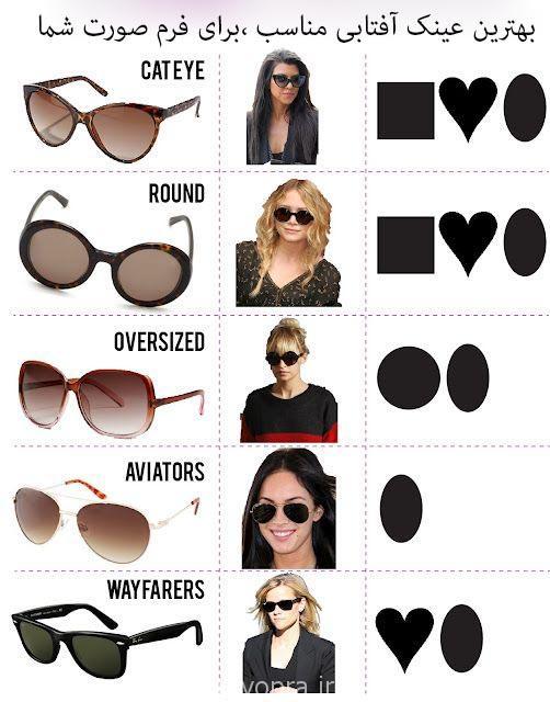 بهترین عینک آفتابی متناسب با فرم صورت شما