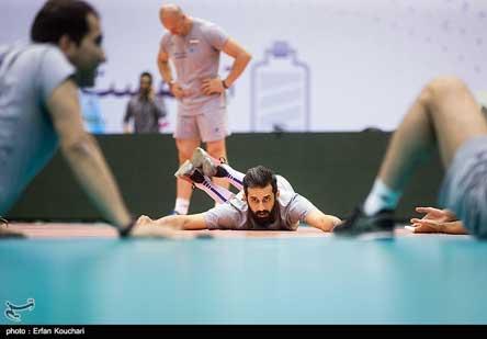 تمرین پنجشنبه والیبال ایران قبل از بازی با روسیهتمرین پنجشنبه والیبال ایران قبل از بازی با روسیه