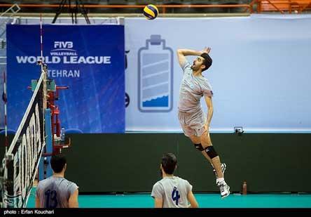 تمرین پنجشنبه والیبال ایران قبل از بازی با روسیه