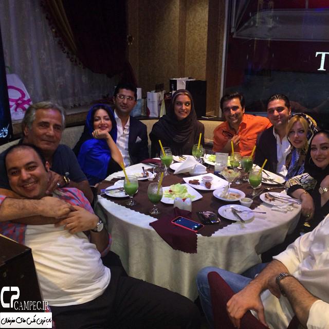 بازیگران در جشن تولد الیکا عبدالرزاقی