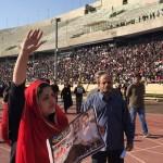 عکس مراسم تشیع پیکر هادی نوروزی در ورزشگاه آزادی
