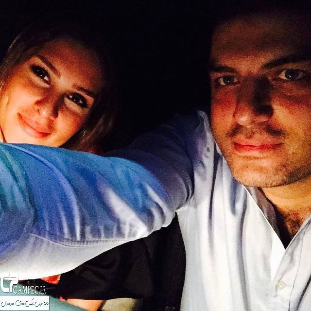 سام درخشانی و همسرش