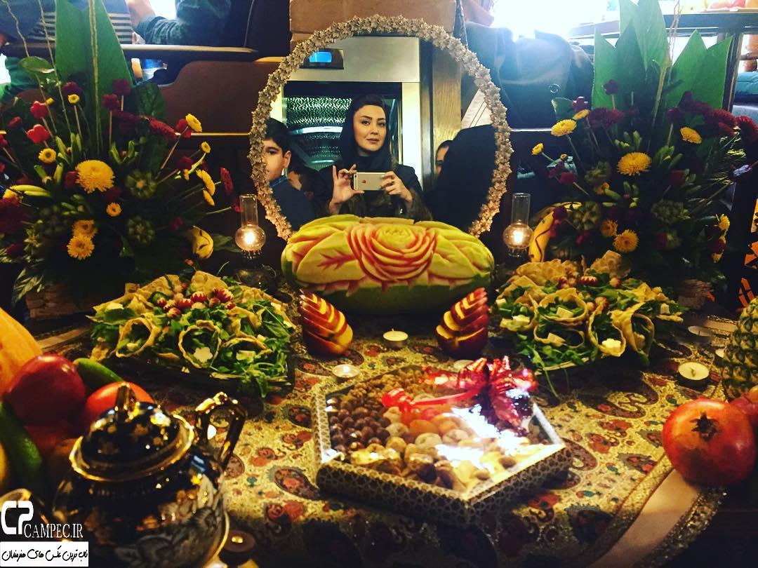عکس های منتشر شده از بازیگران در شب یلدا 94