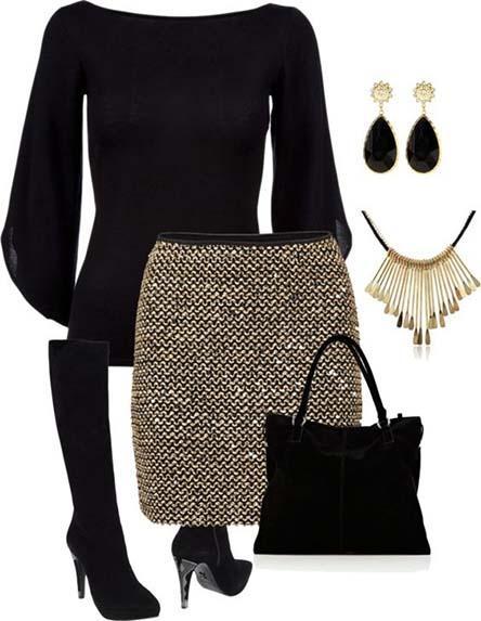 لباس مجلسی با کیف و کفش و جواهرات