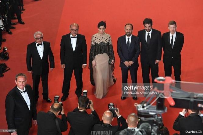 کن 2016 بازیگران فیلم فروشنده فرش قزمز