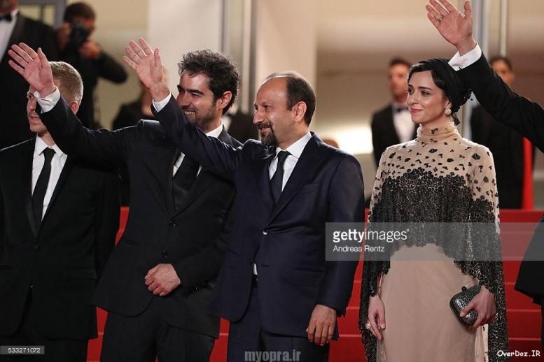 جشنواره کن 2016 بازیگران فیلم فروشنده فرش قزمز